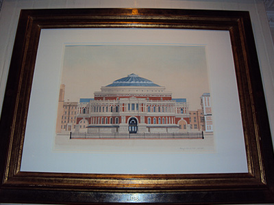 Royal Albert Hall<br/>Andras Kaldor<br/>Ink & Watercolour on Paper